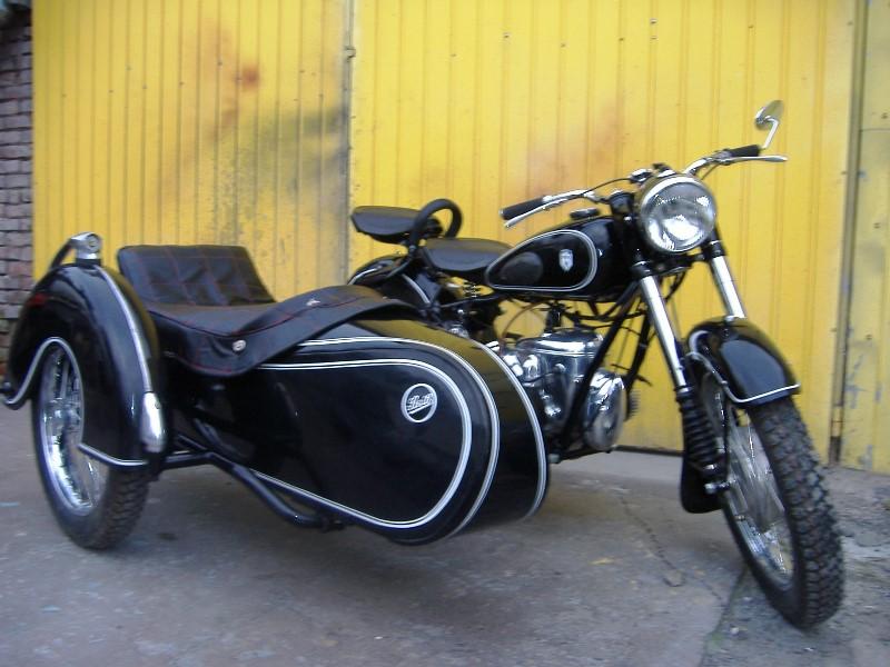 ifa bk 350 z wózkiem.