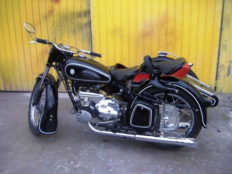 ifa bk 350 z wózkiem