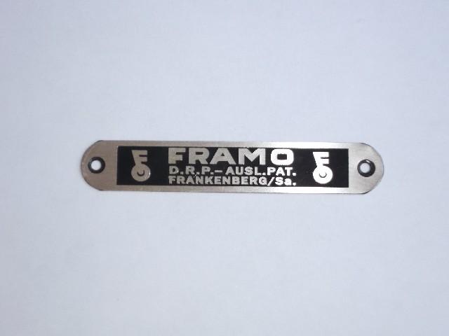 Tabliczka siedzenia Framo,Dkw Nz 350