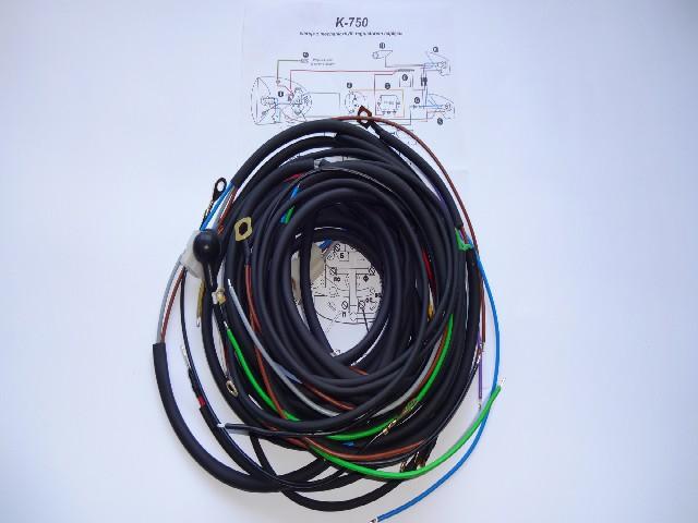 K 750 wiązka ,instalacja elektryczna z koszem,schemat,masa