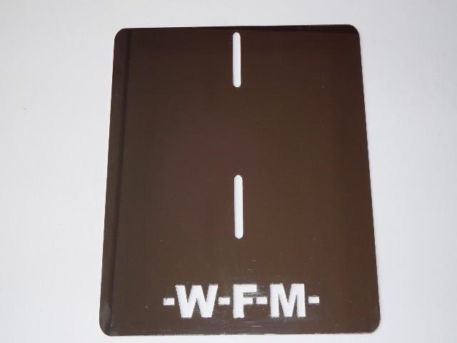 WFM podkładka / ramka rejestracji dedykowana