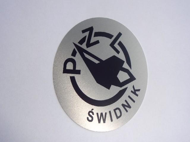 WSK Emblemat zbiornika aluminiowy WSK