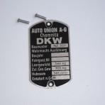 Tabliczka znamionowa Dkw Nz 350