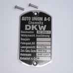 Tabliczka znamionowa Dkw Nz 350-1